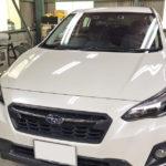 自動車ガラス交換、スバル XV フロントガラス交換(純正ガラス)施工で入庫。